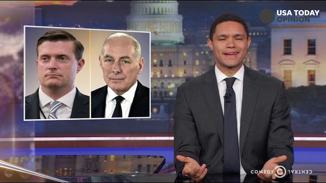 The late-night comics take a look at Rob Porter's departure from the White House. Take a look at our favorite jokes, then vote for yours at usatoday.com/opinion.