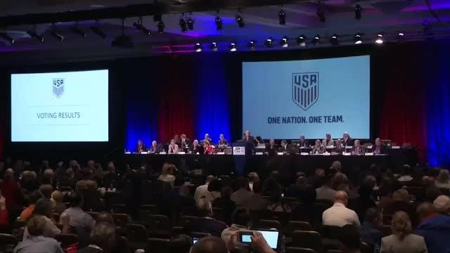 Carlos Cordeiro will succeed Sunil Gulati as president of U.S. Soccer after being elected following three rounds of voting on Saturday at the organization's annual meeting in Orlando, Florida. Nathan Frandino reports. Video provided by Reuters