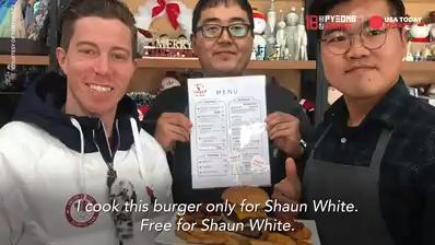 "The $922 Shaun White ""Flying Tomato"" burger"
