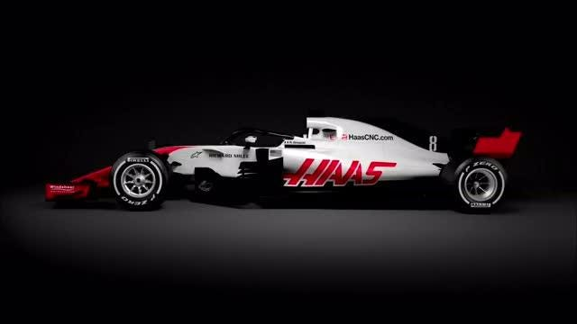 The Haas Formula One team is the first to reveal its car for the 2018 season Video provided by Reuters