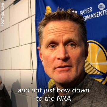 Warriors head coach Steve Kerr feels the government needs to play a bigger role in preventing gun violence.