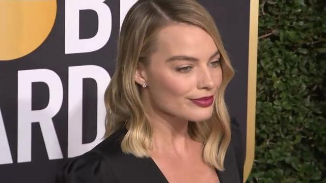 At the U.K. premiere of awards contender 'I, Tonya,' stars Margot Robbie and Allison Janney discuss wearing black on the BAFTA red carpet in support of the Time's Up movement. (Feb. 16)