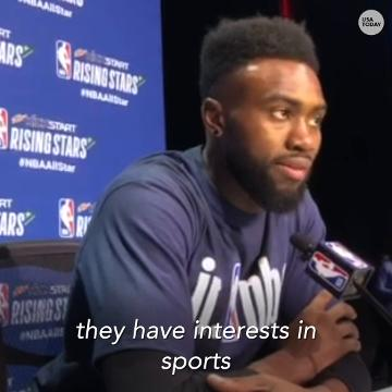 """Boston's All-Star forward spoke to the media about Laura Ingraham's criticism of LeBron James and her call for James and Kevin Durant to """"shut up and dribble"""" rather than weighing in on politics."""
