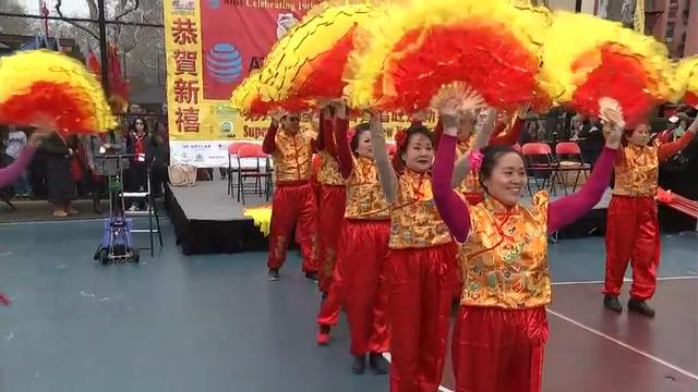 New York City's Chinatown celebrated the Lunar New Year Friday with dancing lions, cultural pageantry, and firecrackers to ward off evil spirits. This year marks the year of the dog, one of the 12 animals in the Chinese astrological chart. (Feb. 16)