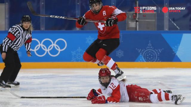 Here are the best photos for the eighth day of action at the 2018 Winter Olympics.