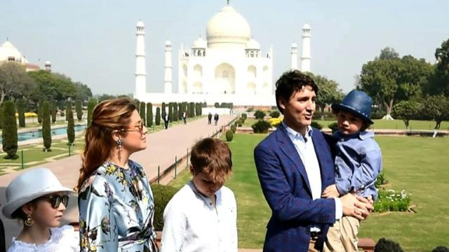 Canada's Trudeau begins India trip with Taj Mahal visit Video provided by AFP