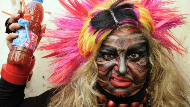 Lebanese mark mysterious Zambo festival in Tripoli Video provided by AFP