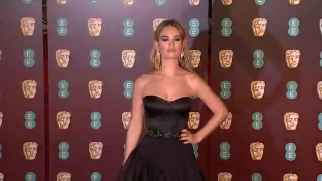 Back to black on BAFTA red carpet