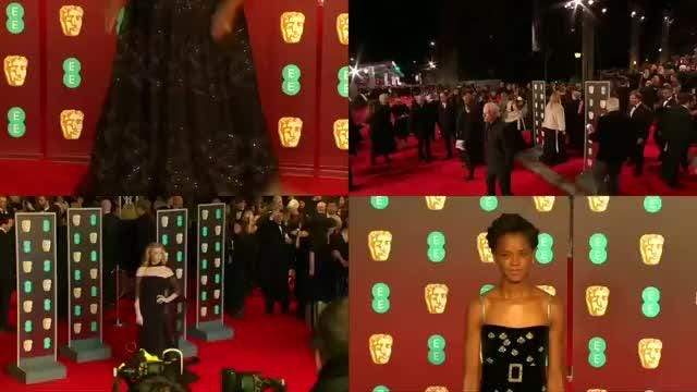 Celebrities wore black and brought activists to a politically charged BAFTA award ceremony on Sunday night, in order to promote the Time's Up movement against sexual harassment. Jayson Mansaray reports. Video provided by Reuters