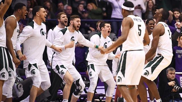 The Spartans are the top team in the USA TODAY Sports men's college basketball coaches poll for another week.