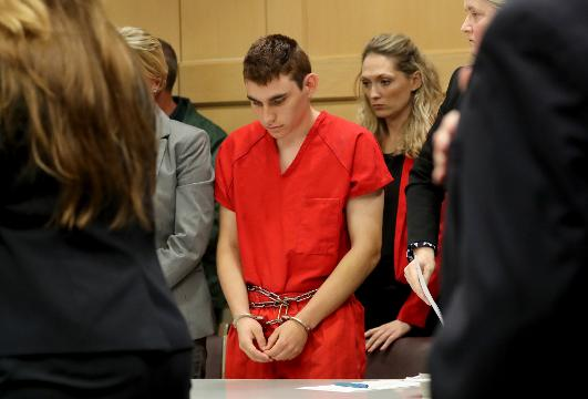 Florida school shooting suspect back in court