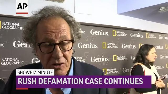 """Fergie says """"tried my best"""" after national anthem blowback; In newspaper defamation case, Australian court hears how actress swore at Geoffrey Rush to leave toilet; R Kelly evicted from 2 Georgia homes over $30K unpaid rent. (Feb. 20)"""