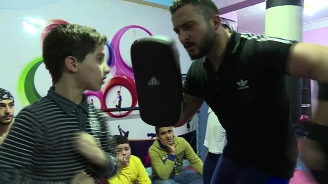 Young Syrian refugees get active at Egypt sports academy Video provided by AFP