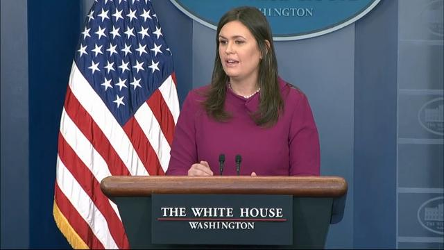 """White House Press Secretary Sarah Huckabee Sanders said Tuesday President Donald Trump has repeatedly acknowledged that Russia meddled in the 2016 election, but she insisted that meddling """"didn't have an impact."""" (Feb. 20)"""
