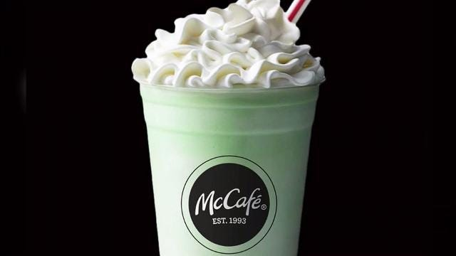 The first alleged 2018 Shamrock Shake pic landed on Twitter almost two weeks ago.