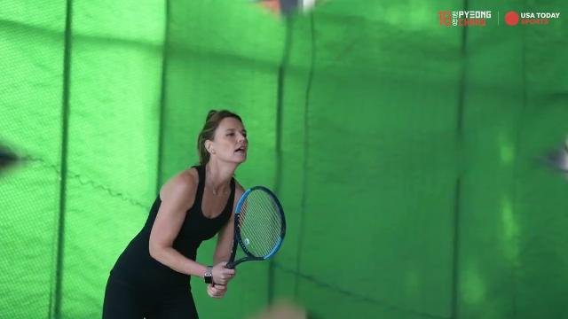'Today' show co-host may be busy covering the Winter Olympics but she's still finding time to practice for her up coming tennis match with Roger Federer, Bill Gates and Jack Sock.