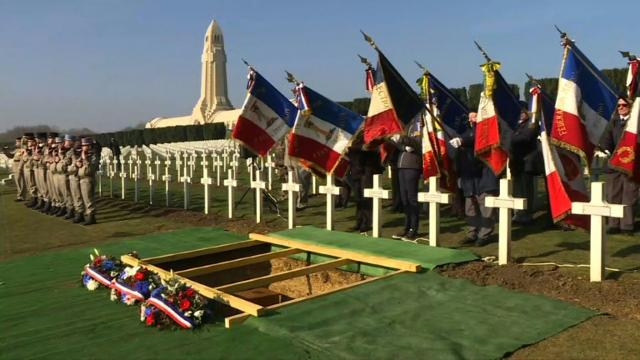 French WWI soldier identified by DNA laid to rest Video provided by AFP