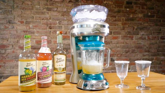 We pitted a $250 Margaritaville drink machine against a $400 Vitamix blender to see which made the tastier frozen beverages.