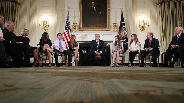School shooting survivors confront President Trump