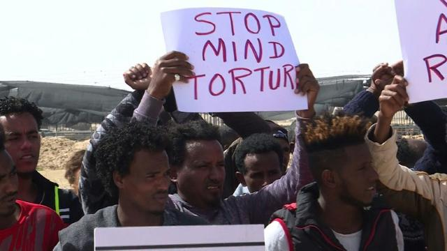 Hundreds of African migrants protest Israel detentions Video provided by AFP