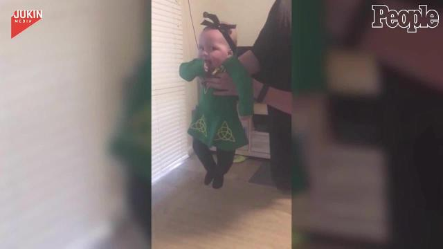 Check out this baby dancer's moves.