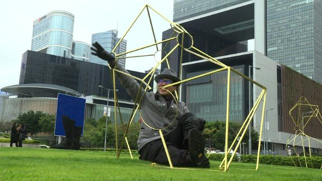 Hong Kong harbour gets star attraction with sculpture park Video provided by AFP