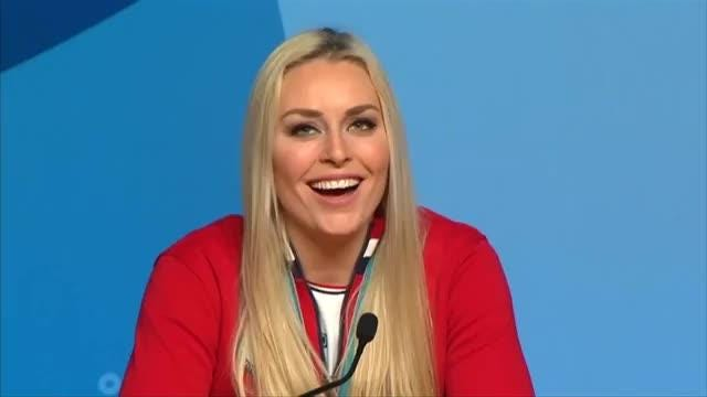Lindsey Vonn ended her Olympics vowing that she would not quit the sport until she had beaten Ingemar Stenmark's record of World Cup wins. Video provided by Reuters