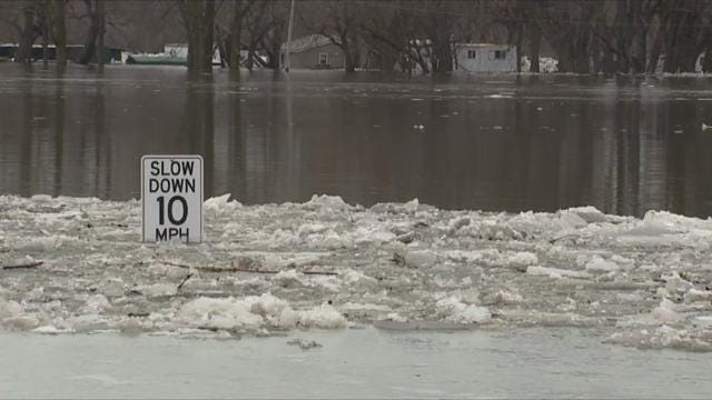 Heavy rain and melting snow are causing major floods in the Midwest and South. Some evacuations were ordered in Illinois. Flooding covered some athletic fields, parking lots and roads on Michigan State University's campus in East Lansing. (Feb. 23)