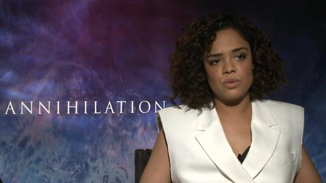 "Stars of sci-fi adaptation ""Annihilation"" - Natalie Portman, Tessa Thompson and Gina Rodriguez - discuss the film's all-female ensemble. (Feb. 23)"