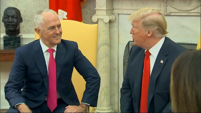 Australian Prime Minister Malcolm Turnbull has arrived at the White House for an afternoon of meetings with President Donald Trump. The leaders will hold meetings, sit down for a working lunch and answer questions at a joint press conference. (Feb. 23)