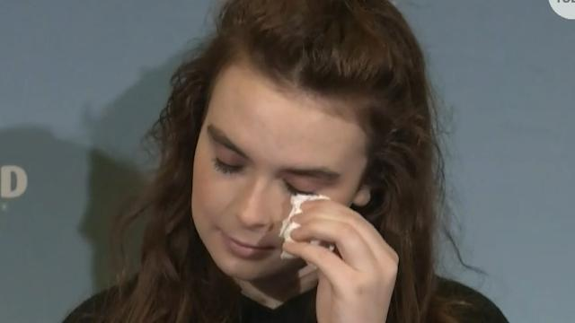 Florida school shooting survivor 'grateful to be here'