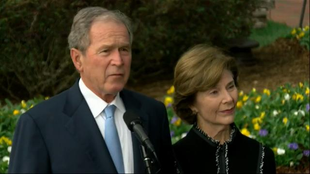 George W. Bush pays respect to Billy Graham