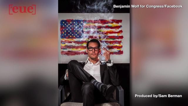 Congressional candidate posts photo apparently smoking pot