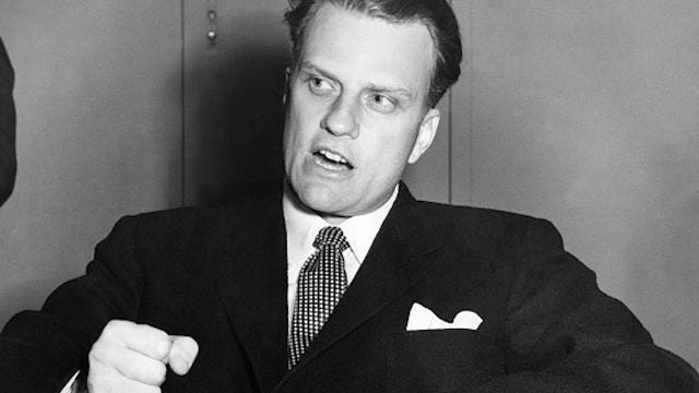 Trump says his dad took him to see Billy Graham preach