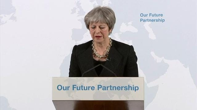 """Theresa May: 'Hard Facts"""" in UK Exit from EU"""