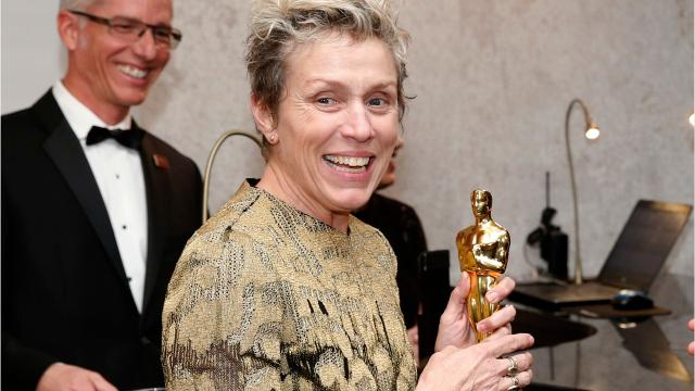 Man charged with felony theft of Frances McDormand's Oscar; actress, trophy reunited