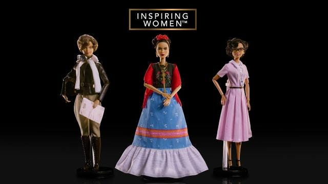 Barbie unveils dolls based on legendary women