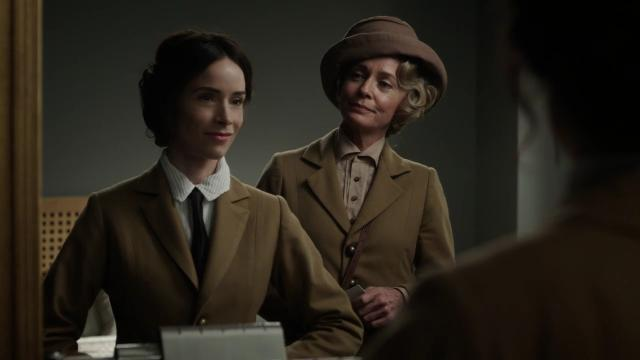 Carol (Susanna Thompson) tries to sell her daughter Lucy (Abigail Spencer) on the Rittenhouse way in an exclusive clip from the second season premiere of NBC's 'Timeless.'