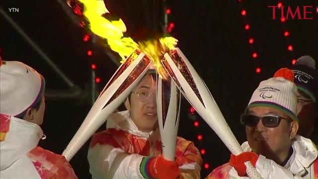 The 2018 winter paralympics torch ceremony in PyeongChang