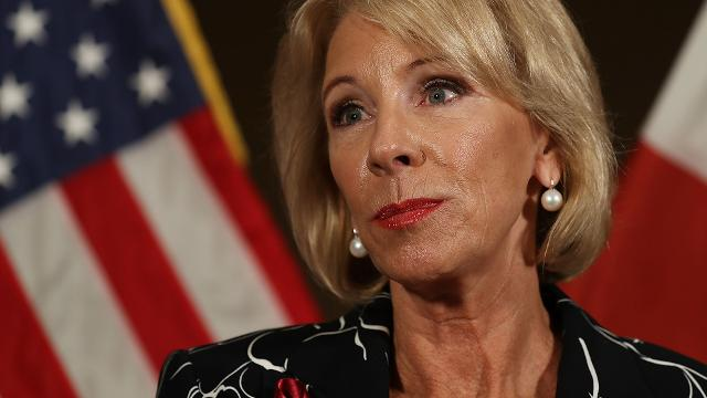 Critics say the interview shows the Education secretary can't answer simple questions about public education.