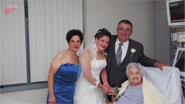 Bride brings wedding to grandma in the hospital