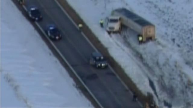 Raw: Minn. Truck-Van Crash Hurts Adult, 7 Kids