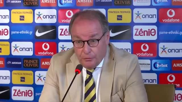 The chairman of FIFA's monitoring committee Hubert Huebel says Greece must fix violence around soccer matches after club president's intimidating pitch invasion. Video provided by Reuters