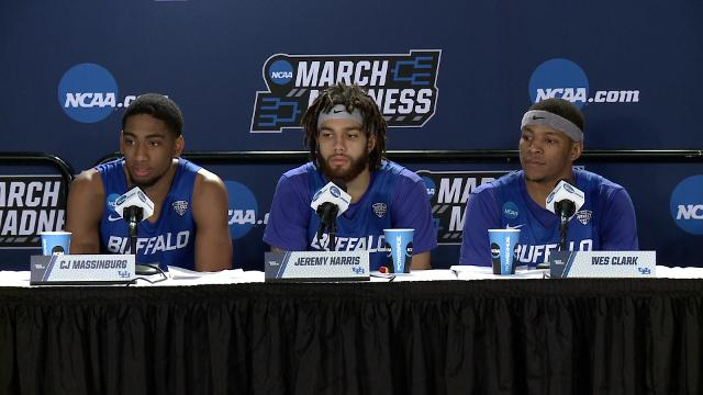 SportsPulse: Wes Clark, CJ Massinburg and Nate Oats discuss their upset victory.