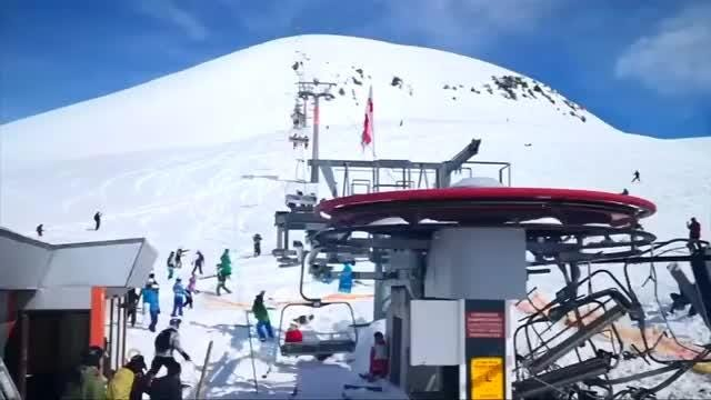 Skiers were forced to jump for their lives and others were flung off a ski lift at a Georgian ski resort on Friday after a mechanical malfunction.