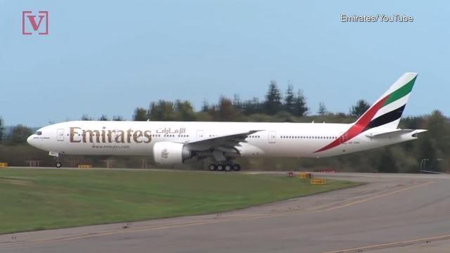 emirates flight attendant jumps