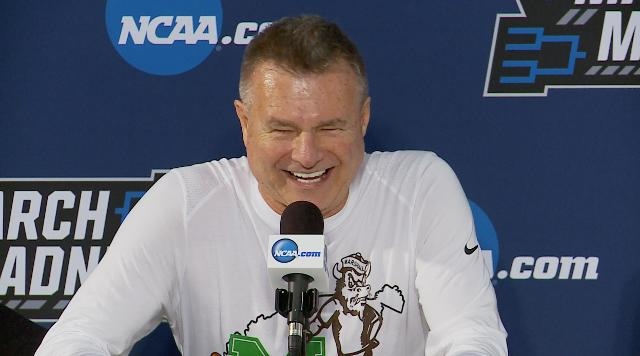 Dan D'Antoni was all smiles after Marshall upset Wichita State