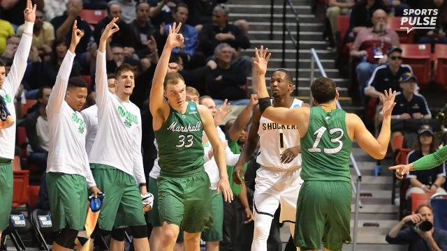 SportsPulse: Marshall won their first ever NCAA tournament game pulling off the huge upset over Wichita State and show no signs of slowing down.