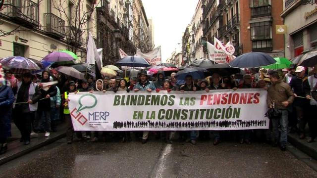 Spanish rally for better pensions.