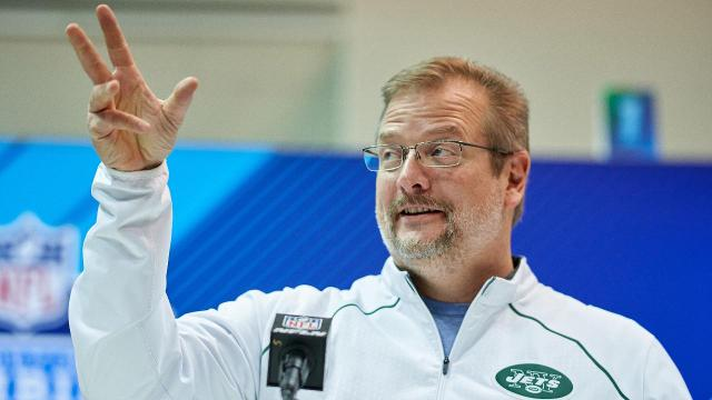 New York Jets acquired the No. 3 pick from Indianapolis in exchange for its No. 6 overall pick, 37th overall pick, 49th overall pick and its 2019 second round pick.